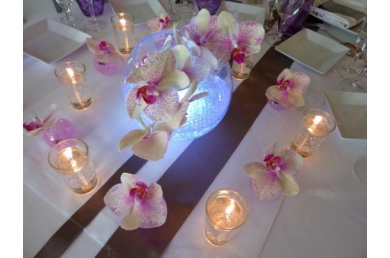 Arabesque ev nement organisatrice de mariage photos for Centre de table lumineux